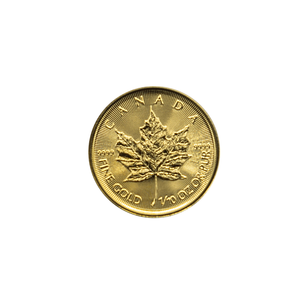 1/10 OZ. Maple Leaf Gold Münze Royal Canadian Mint
