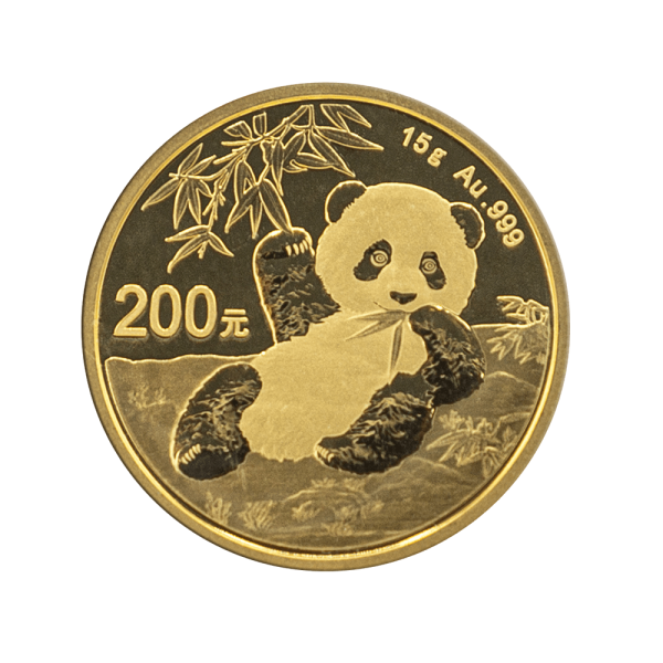 15gr. China Panda Münze Gold Shanghai Mint